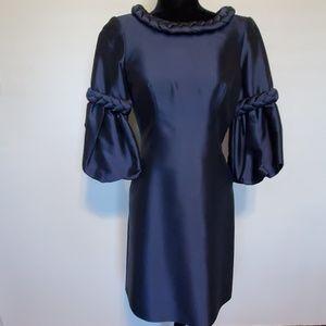 Tapestry Dress with Braided Neckline